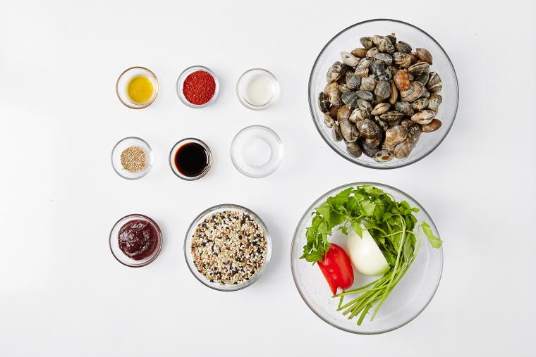 바지락비빔밥