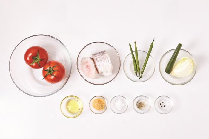 토마토흰살생선조림