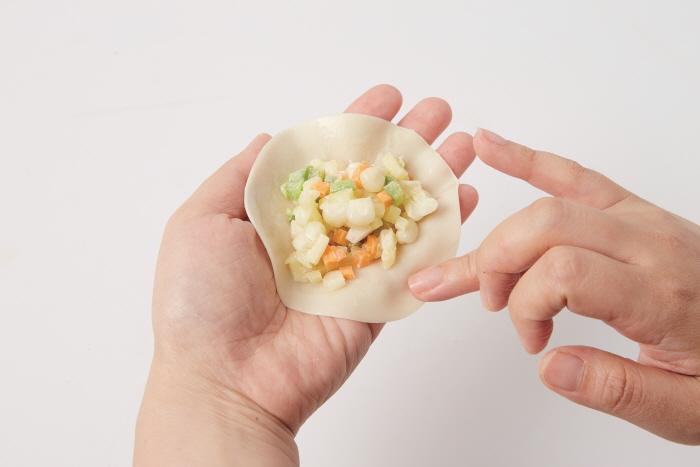 옥수수 치즈 만두