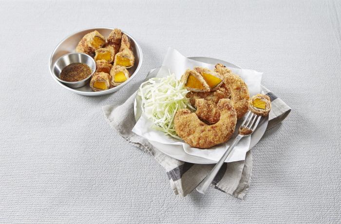 단호박고기튀김