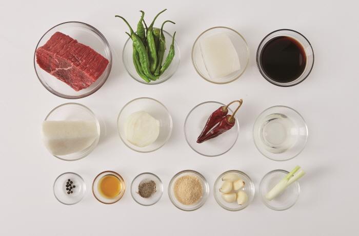 쇠고기곤약무조림
