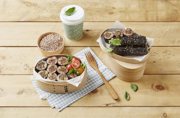 수수떡갈비김밥