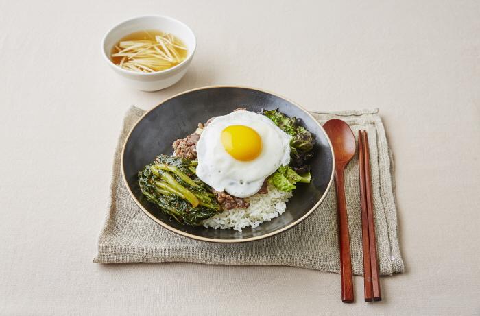 열무김치 불고기비빔밥