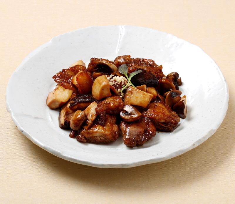 닭 버섯 조림