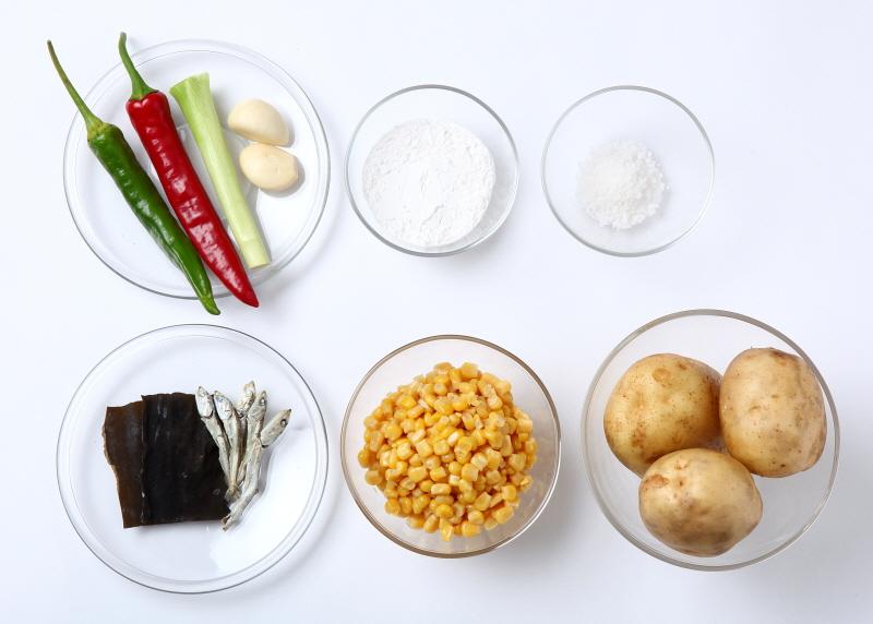 옥수수 감자 옹심이