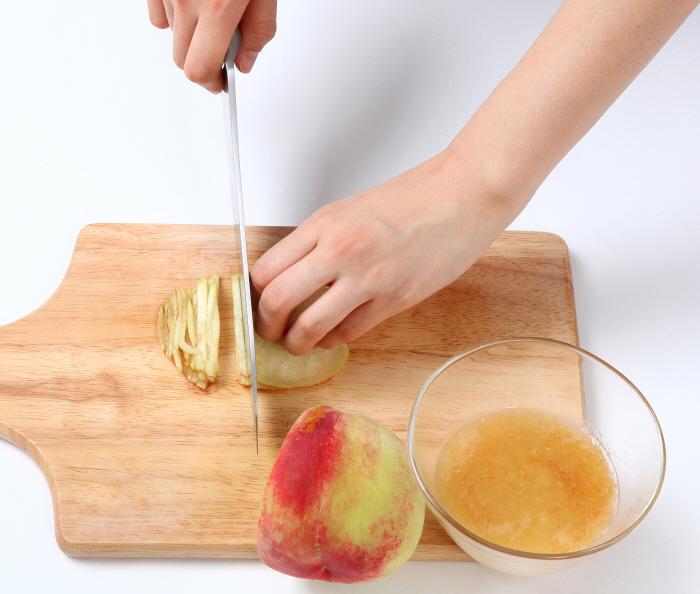 복숭아 열무김치 비빔소면