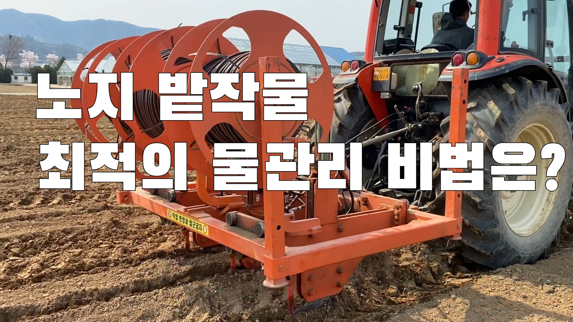 (with 귀농7년차) 노지 밭작물 최적의 물관리 비법은?
