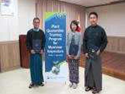 미얀마 식물검역관 초청 훈련 실시